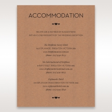 Blissfully Rustic  Laser Cut Wrap accommodation invite