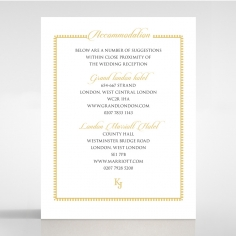 Blooming Charm wedding accommodation invitation