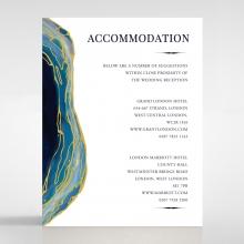 Blue Aurora accommodation enclosure stationery card