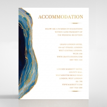 Blue Aurora accommodation enclosure stationery card design