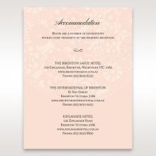 Blush Blooms wedding stationery accommodation invitation card