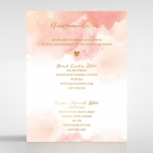 Blushing Rouge with Foil accommodation invitation card design