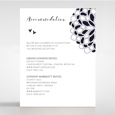 Bohemia accommodation enclosure stationery invite card design