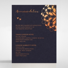 Bohemia wedding accommodation card