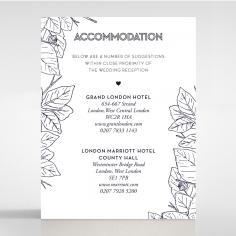 Botanical Canopy accommodation stationery invite card design