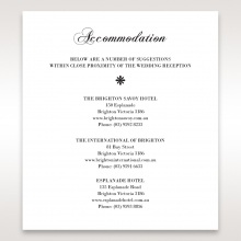 Bouquet of Roses accommodation wedding invite card