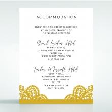 Breathtaking Baroque Foil Laser Cut accommodation wedding invite card design