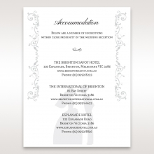 Bridal Romance wedding stationery accommodation invite