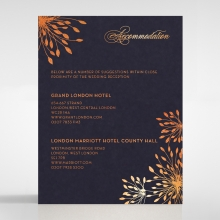 Bursting Bloom wedding stationery accommodation enclosure card