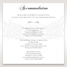 Cascading Flowers accommodation enclosure stationery invite card design