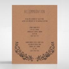 Charming Garland accommodation wedding invite card design