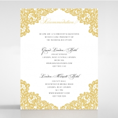 Charming Lace Frame wedding accommodation invitation card