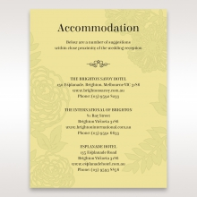 Charming Laser cut Garden wedding stationery accommodation enclosure invite card