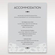 Charming Rustic Laser Cut Wrap accommodation wedding invite card