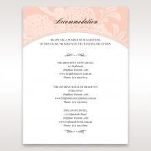 Classic Laser Cut Floral Pocket wedding stationery accommodation enclosure invite card design