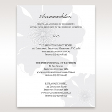 Classic Shimmering Flower wedding stationery accommodation card design