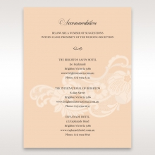 Classic White Laser Cut Sleeve accommodation enclosure invite card