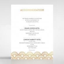 Contemporary Glamour accommodation invite card design