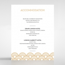 Contemporary Glamour accommodation wedding card