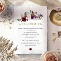 Contemporary Love accommodation invite card