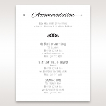 Country Lace Pocket wedding accommodation card design