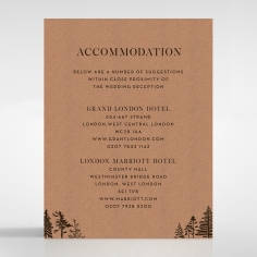 Delightful Forest Romance wedding accommodation invite
