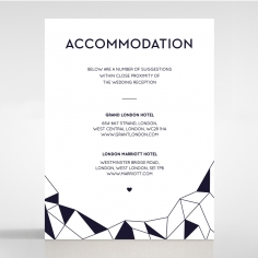 Digital Love wedding accommodation enclosure card