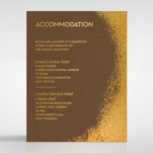 Dusted Glamour accommodation enclosure invite card design
