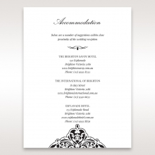 Elegance Encapsulated Laser cut Black wedding accommodation invitation card