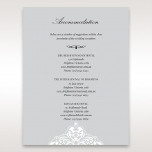 Elegance Encapsulated accommodation enclosure stationery invite card