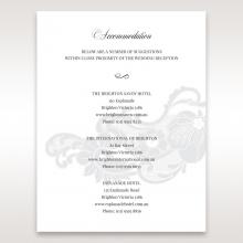 Elegant Black Laser Cut Sleeve accommodation stationery card design