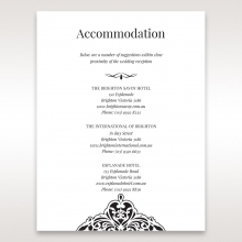 Elegant Crystal Black Lasercut Pocket wedding stationery accommodation card