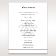 Elegant Seal accommodation stationery invite card design