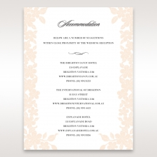 Embossed Floral Frame wedding accommodation invite