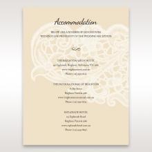 Embossed Floral Pocket accommodation wedding card