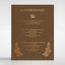 Enchanted Crest accommodation stationery card design
