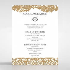 Enchanting Forest accommodation enclosure stationery card design