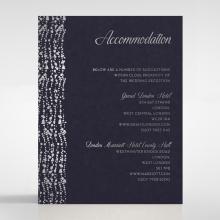 Enchanting Halo wedding accommodation enclosure invite card