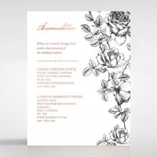 English Rose accommodation stationery card