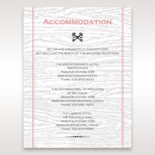 Eternity wedding accommodation enclosure card design