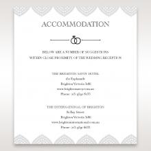 Everly wedding accommodation invite card design