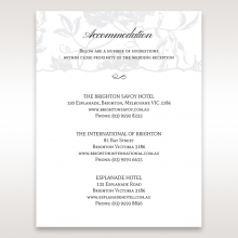 Exquisite Floral Pocket accommodation card design