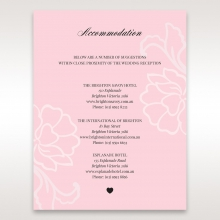 Exquisitely Embossed Floral Pocket accommodation invite card