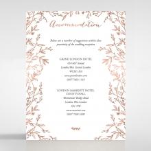 Fleur accommodation invite card design