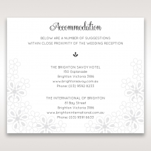 Floral Cluster accommodation enclosure stationery card design