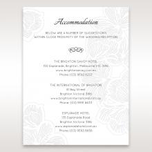 Floral Laser Cut Elegance Black wedding accommodation enclosure card