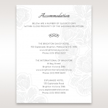 Floral Laser Cut Elegance wedding stationery accommodation invitation