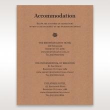 Floral Laser Cut Rustic Gem accommodation invitation card