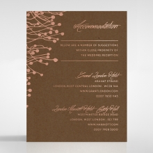 Flourishing Romance wedding accommodation card design