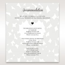 Fluttering Hearts  accommodation wedding card